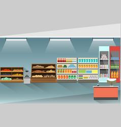 supermarket modern interior vector image