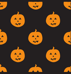 Thanksgiving day seamless pattern with pumpkins vector