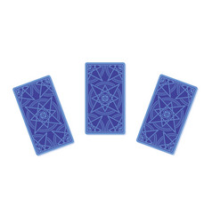Three tarot cards reverse side vector