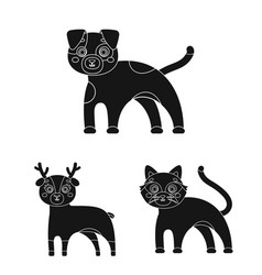 Toy animals black icons in set collection for vector