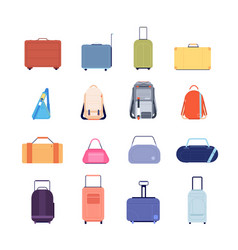 travel luggage vacation suitcase isolated vector image
