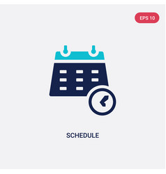 Two color schedule icon from hockey concept vector