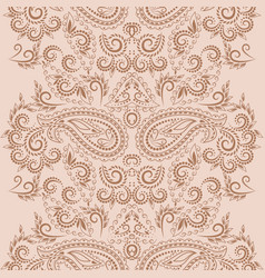 Vertical seamless paisley lace border vector