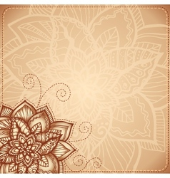 Vintage floral background with doodle flowers vector image
