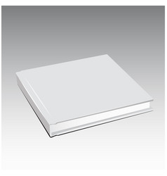 White book template blank cover vector