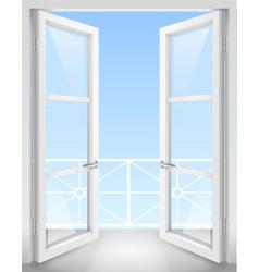 White open doors vector