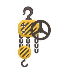 winch machine icon vector image