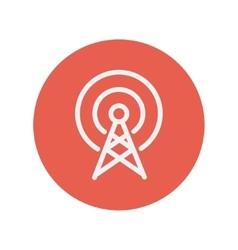 Antenna thin line icon vector image