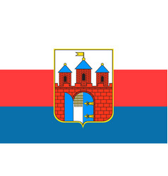 Flag of bydgoszcz in kuyavian-pomeranian vector