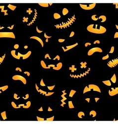 Halloween pumpkin seamless pattern Red pumpkins vector image vector image
