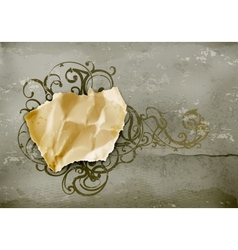 Vintage Frame paper on wall vector image vector image