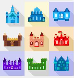 citadel icons set flat style vector image