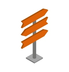 Direction signs icon isometric 3d style vector image