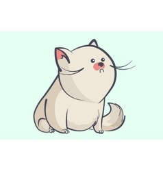 fat gray cat with a little round eyes vector image vector image