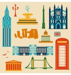 Landmarks of United Kingdom vector image vector image