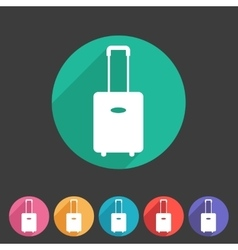 luggage suitcase bag icon flat web sign symbol vector image vector image
