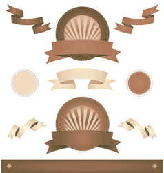 old vintage ribbons and banners vector image vector image