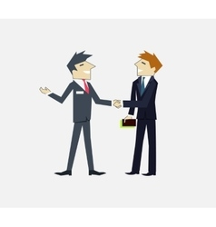 Partners people icon flat design vector
