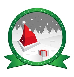Santa claus hat in christmas day vector