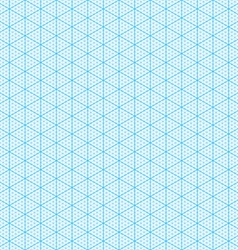 Seamless isometric graph paper vector image vector image