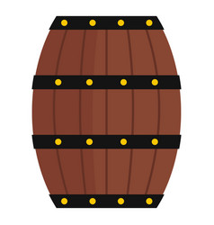 Wine wooden barrel icon isolated vector