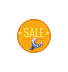 Wrench Sale Sticker vector image vector image