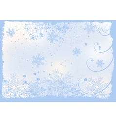 christmas or winter background vector image vector image