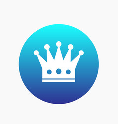 crown icon regal monarch sign vector image