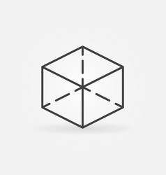 cube line icon vector image