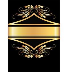 golden floral banner vector image vector image