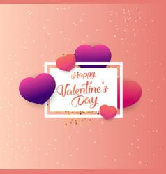 happy valentines day typography poster vector image
