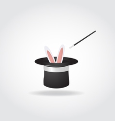 Magic hat with rabbit vector image vector image