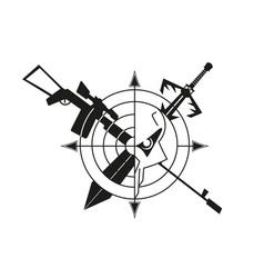 war logo skull vector image