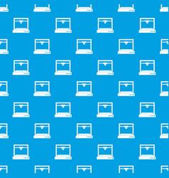 3d printer model pattern seamless blue vector image
