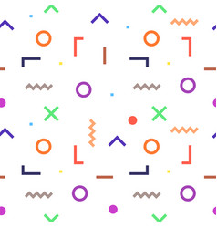 abstract geometric outline colorful shapes vector image