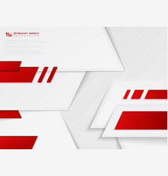 abstract gradient red color technology vector image