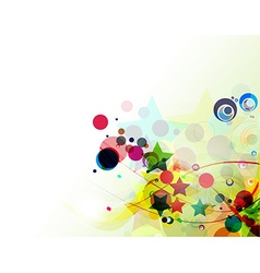 abstract rainbow wave line background vector image