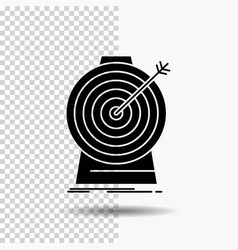 aim focus goal target targeting glyph icon on vector image