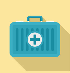 beach first aid kit icon flat style vector image