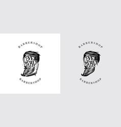beard letter logo vector image