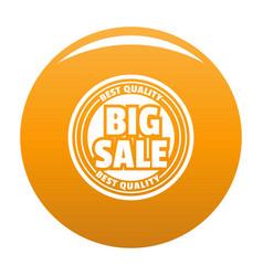 Big sale logo simple style vector