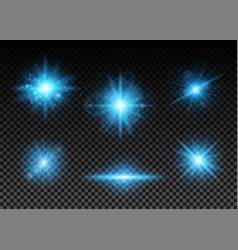 blue lights set vector image
