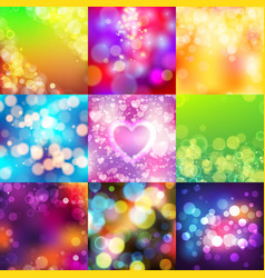 Bokeh abstract blur texture colorful background vector