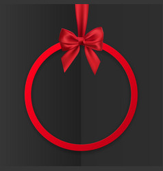 bright holiday round frame banner hanging vector image