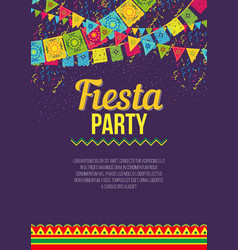 Bright poster inviting to fiesta party vector