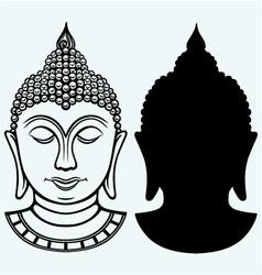 Buddha portrait vector