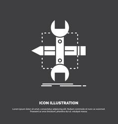 build design develop sketch tools icon glyph vector image