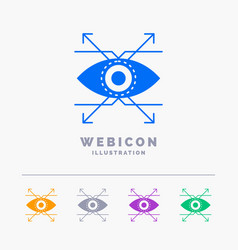 business eye look vision 5 color glyph web icon vector image