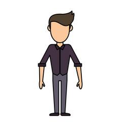 cartoon man male stand design vector image