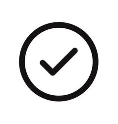 checked button icon vector image